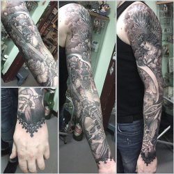 Craig Ridley Tattoo Workshop Black and Grey Sleeve