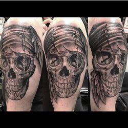 Les Makepeace Tattoo Workshop Pirate Skull